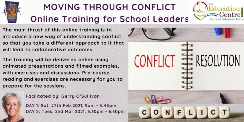 MOVING THROUGH CONFLICT 2 Online Training for School Leaders